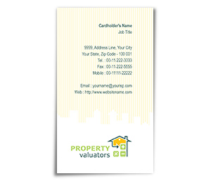 Business Card printing Property Valuation