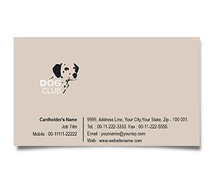 Business Card printing Dog Training Club