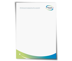 Letterhead printing Satellite Internet Service