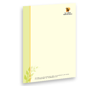 Online Letterhead printing Agricultural Research Centre