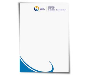 Letterhead printing Hosting Package