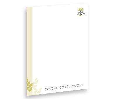 Online Letterhead printing Education Center