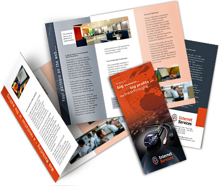 Online Brochures Two Fold printing Internet Service Providers