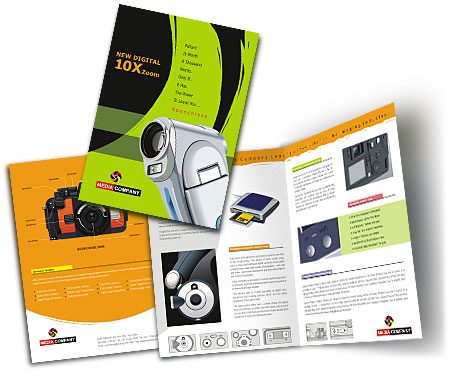 Online Brochures Two Fold printing Fashion Accessories