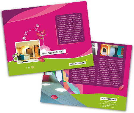 Online Single Page Brochures printing Interior Designer
