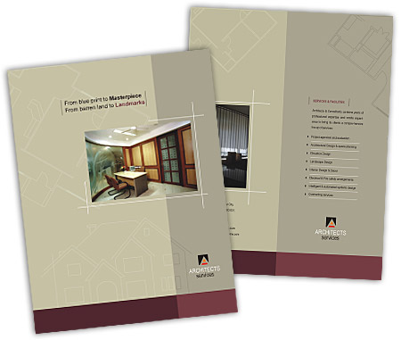Online Brochures One Fold printing Architectural Drafting Service