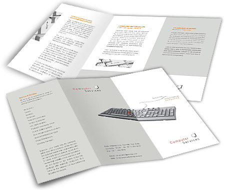 Online Brochures Two Fold printing Software Development Services