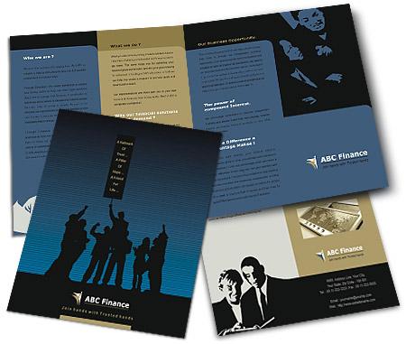 Online Brochures One Fold printing Financial Advisor