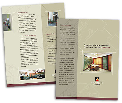 Online Single Page Brochures printing Architectural Drafting Service