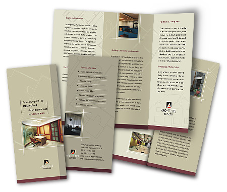 Online Brochures Two Fold printing Architectural Drafting Service