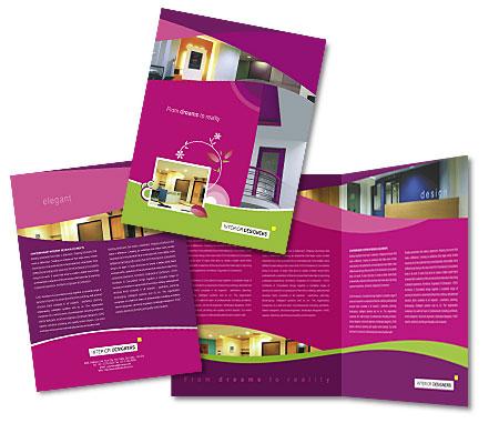 Online Brochures One Fold printing Interior Designer