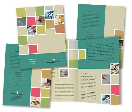 Online Brochures One Fold printing Medical Store
