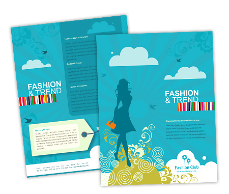 Single Page Brochures Design for Fashion Styles Store Offset or
