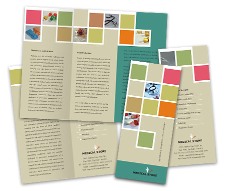 Online Brochures Two Fold printing Medical Store