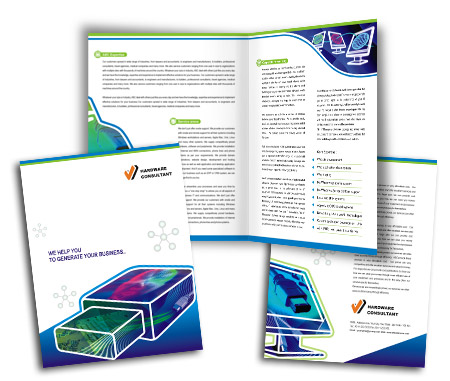 Online Brochures One Fold printing Internet Access Services