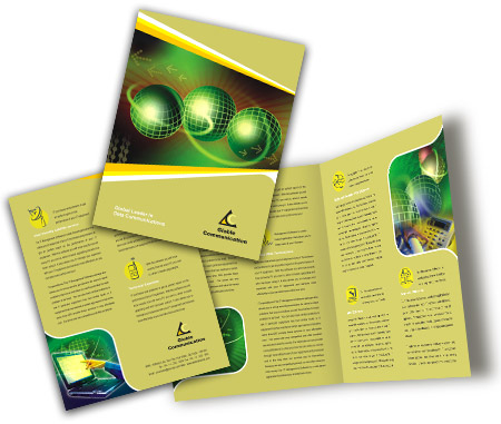 Online Brochures One Fold printing Online Communication Services