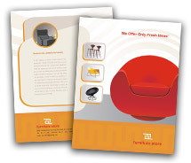Online Brochure printing furniture stores