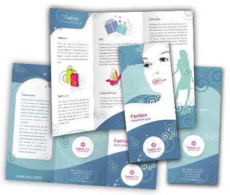 Online Brochures Two Fold printing Fashion Store