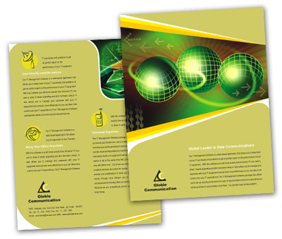 Online Single Page Brochures printing Online Communication Services