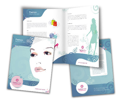 Online Brochures One Fold printing Fashion Store