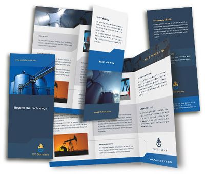 Online Brochures Two Fold printing Oil Company