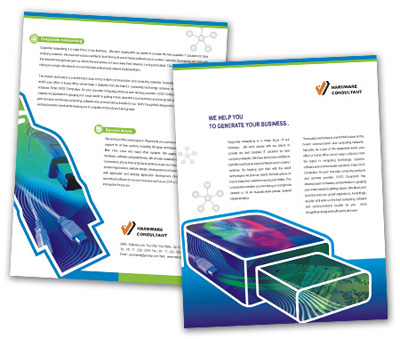 Online Single Page Brochures printing Internet Access Services