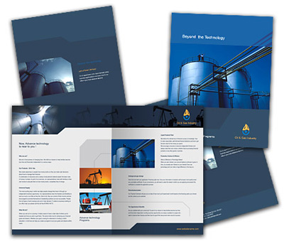 Online Brochures One Fold printing Oil Company