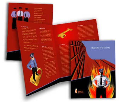 Online Brochures One Fold printing Security System House