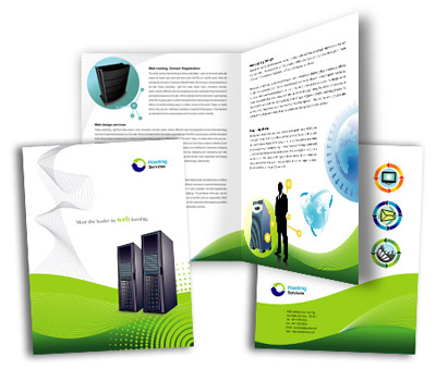 Online Brochures One Fold printing Domain Hosting Services