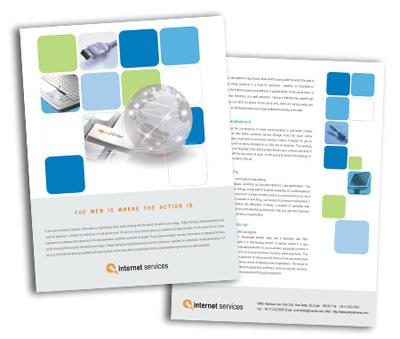 Online Single Page Brochures printing Internet Service