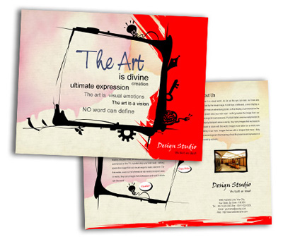 Online Single Page Brochures printing The Arts House