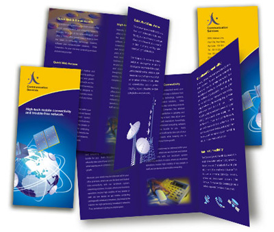 Online Brochures Two Fold printing Wireless Communication System