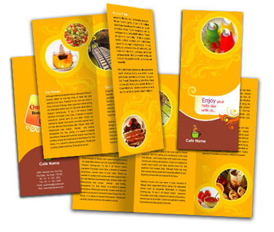 Online Brochures Two Fold printing Bar and Grill