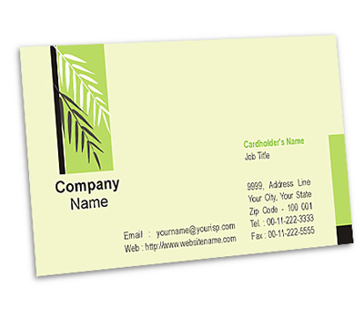 Business card design for garden consultant offset or for Garden consultant