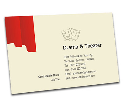 Online Business Card printing Drama and Theater