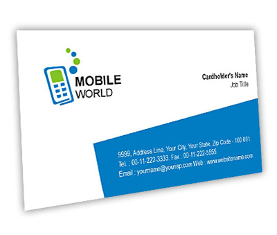 Business card design for mobile communications offset or digital online business card printing mobile communications reheart Choice Image