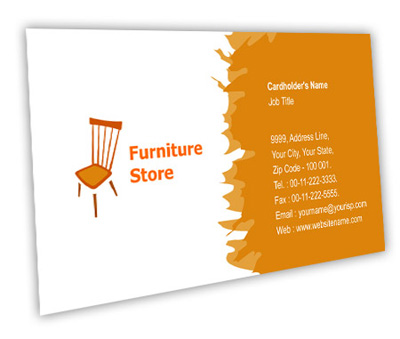 Business Card Design For Furniture Store Offset Or Digital