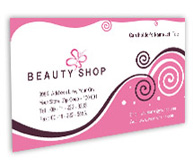 Online Business Card printing Beauty Store