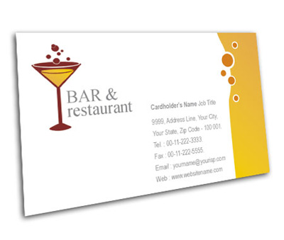 Online Business Card printing Restaurant In Bar