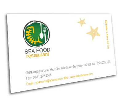Online Business Card printing Seafood Dining