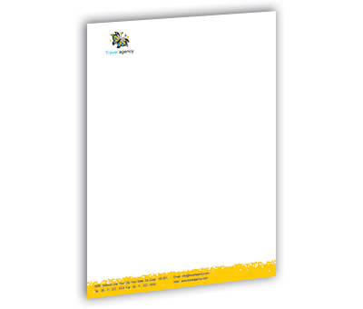 Letterhead design for travel agency offset or digital printing online letterhead printing travel agency product spiritdancerdesigns