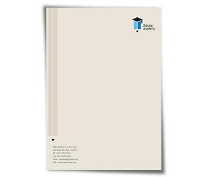 Letterhead printing Education Academy