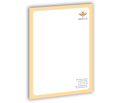 Online Letterhead printing Youth Club