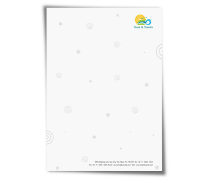 Letterhead printing Tours And Travels