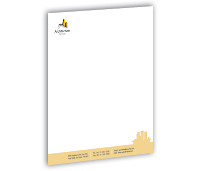 Online Letterhead printing Architecture Building