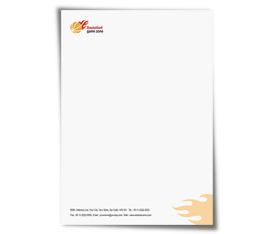 Letterhead printing Basketball Game