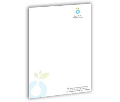 Online Letterhead printing Agricultural Research Service
