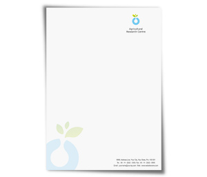 Letterhead printing Agricultural Research Service