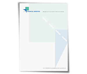 Letterhead printing Financial Services