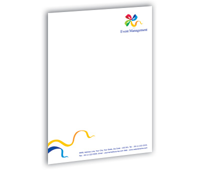 Online Letterhead printing Event Management Services